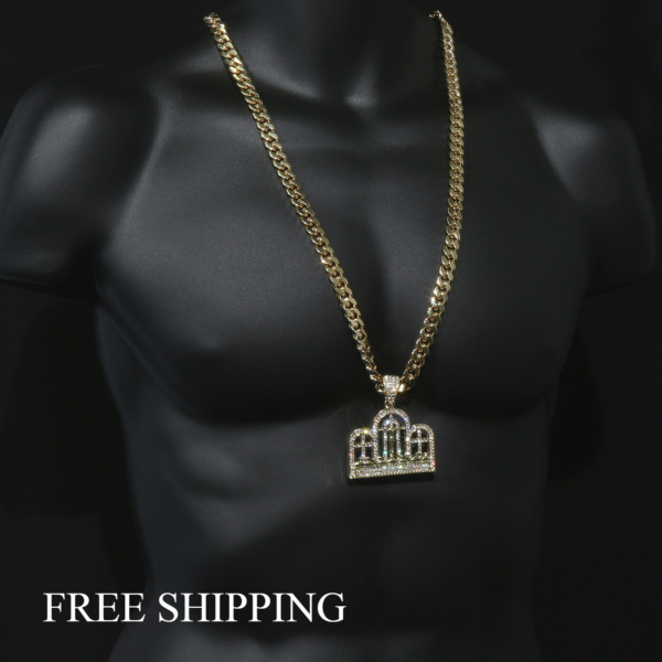 "14k Gold Plated Big Last Supper Pendant w/30"" Cuban Link"