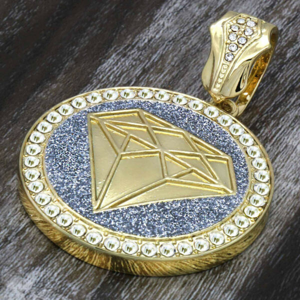 4 pcs 14k GP XL CZ Pendant Cuban & Rope