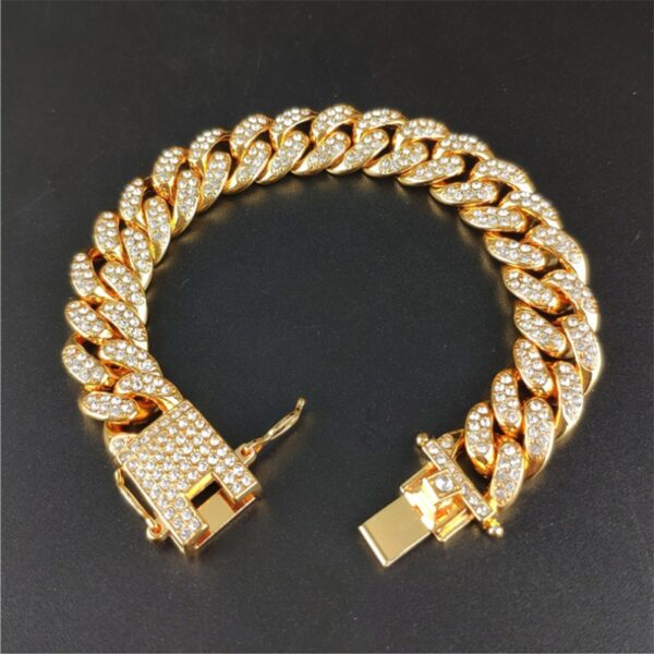 Iced Out Cuban Link Chain Necklace Paved Cuban Link