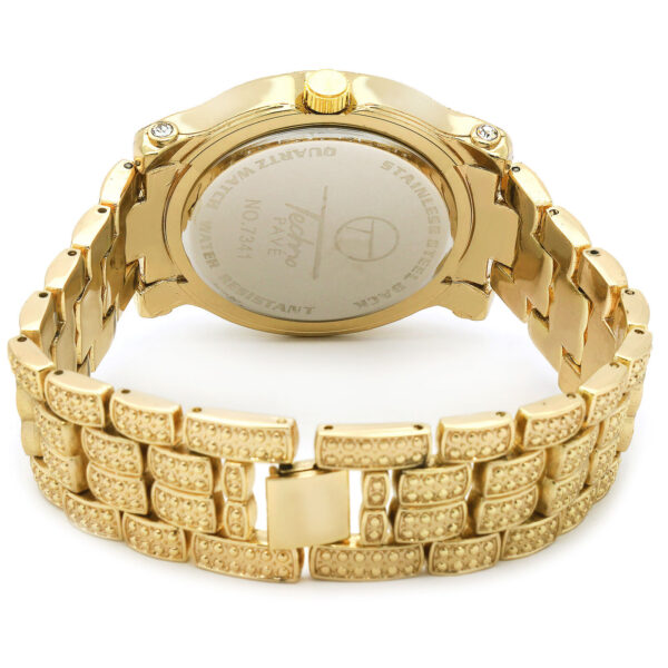 14k Gold PT Iced Fully Cz Watch & Bracelet Dome Wrist Link