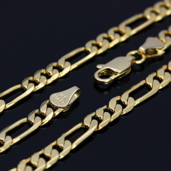"Virgin Mary 14k GP w/18"" Figaro Chain"