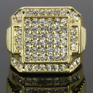 14k Gold Plated 6 Square Ring