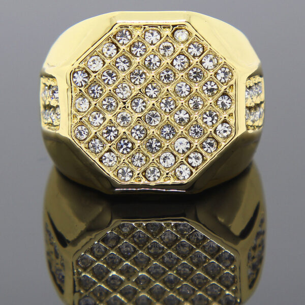 14K Gold Plated Shield Ring