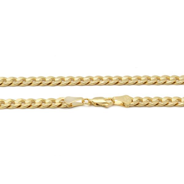 Mens 18k Gold Plated JESUS Pendant 6mm Cuban Chain