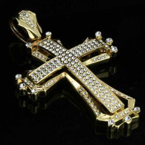 14k Gold Plated CROSS Pendant 30