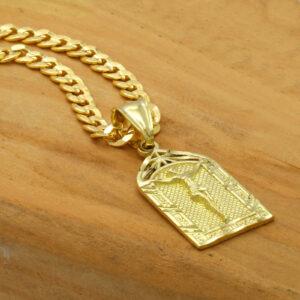 14k Jesus Pendant Cuban Necklace