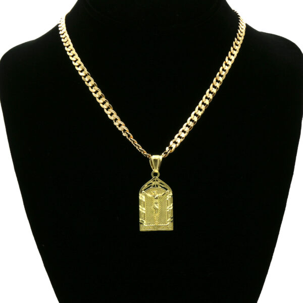 14k Jesus Pendant Cuban Necklace