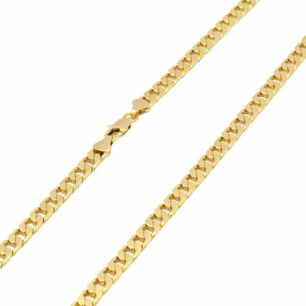 "18k Virgin Guadalupe w/24"" Flat Cuban Necklace"