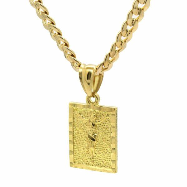 "18k JESUS Pendant w/24"" Cuban Chain"