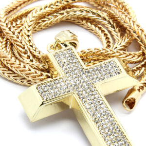 Gold Plated Cross Pendant w/36