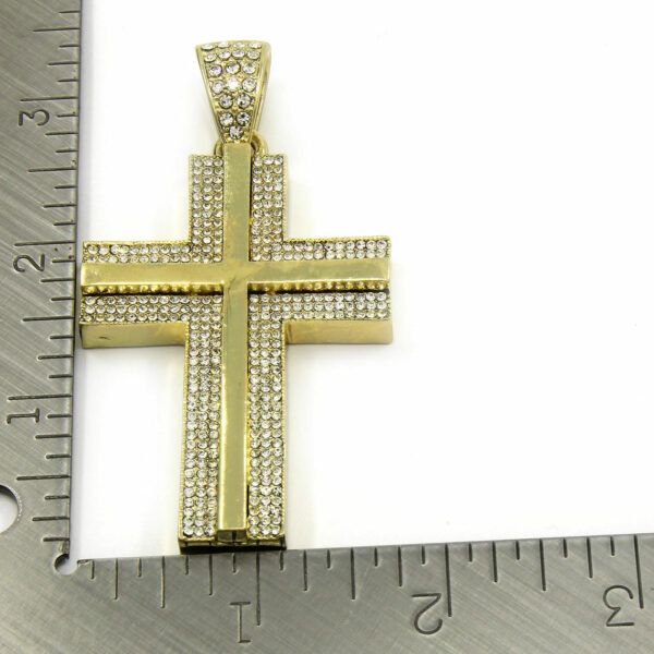 "14k Cz Cross Pendant w/30"" Cuban Chain"