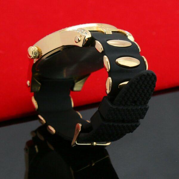14k Medusa Pimp Pinky Ring / Techno Watch Fully Cz Dialog