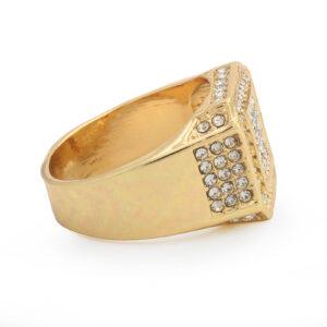 14k Gold Techno Pave Fully Cz Ring & Watch