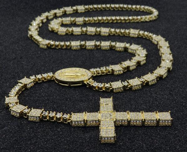 14k Gold Cz Guadalupe Catholic Rosary