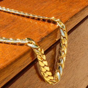 14k Gold Plated Hip Hop Miami Cuban Snake Chain 12mm 30 inches Long