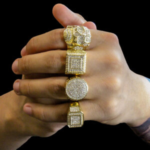 14K Gold Plated Cz 4 Rings Bundle