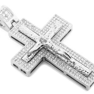 14K Jesus on Iced Cross W/24