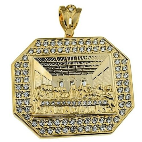 Huge Last Supper Pendant All Gold Finish