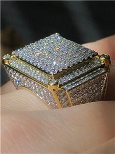 Iced Out 2.5ct 14k Gold Finish Pinky
