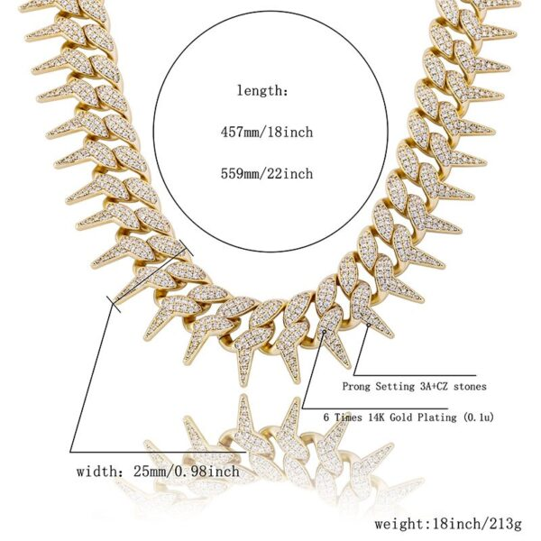 Thorns Iced Out Miami Cuban Link