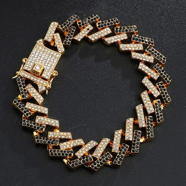 Iced Out AAA CZ Stone Cuban Link Bracelet