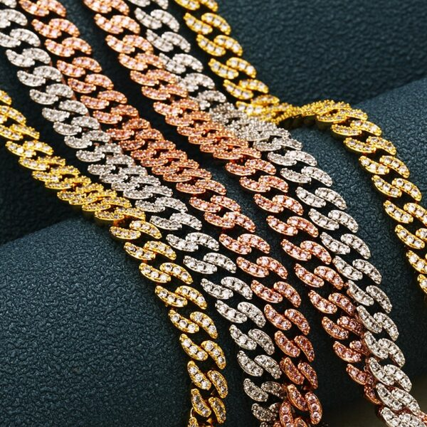 Fully Iced Out Miami Cuban Link Bracelets Or Chains