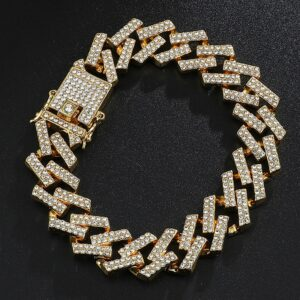 Iced Out AAA CZ Stone Cuban Link Bracelet