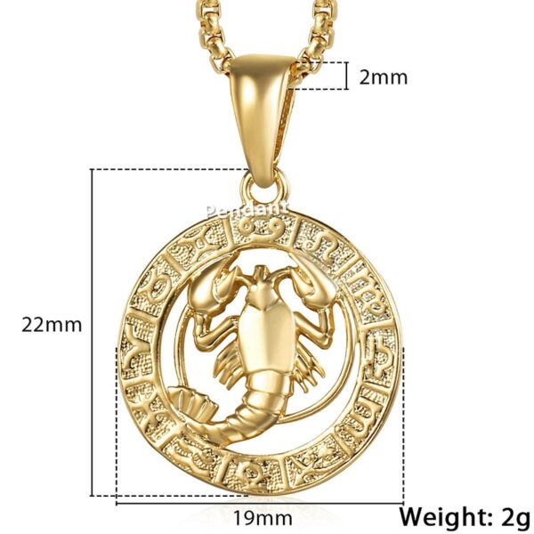 Horoscope Zodiac Sign Pendant And Chain