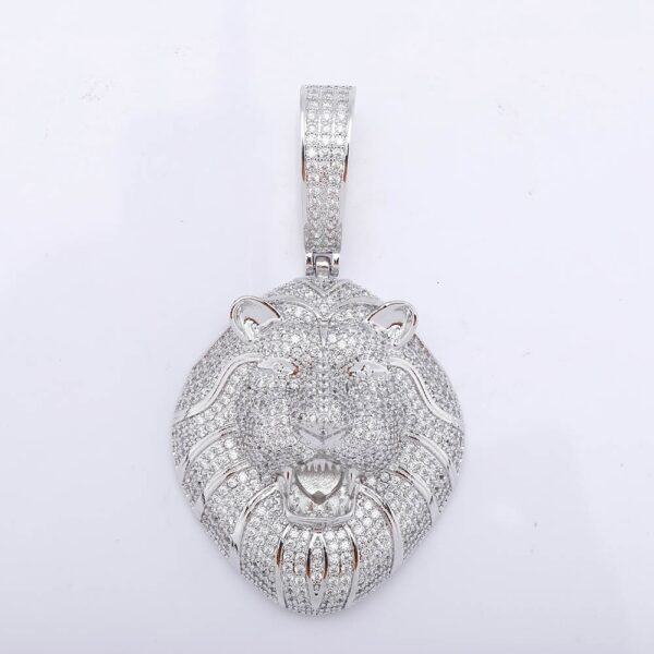 TOPGRILLZ Gold Silver Color Iced Cubic Zirconia Animal Lion Pendant Necklace Men's Ladies Hip Hop Jewelry Gift