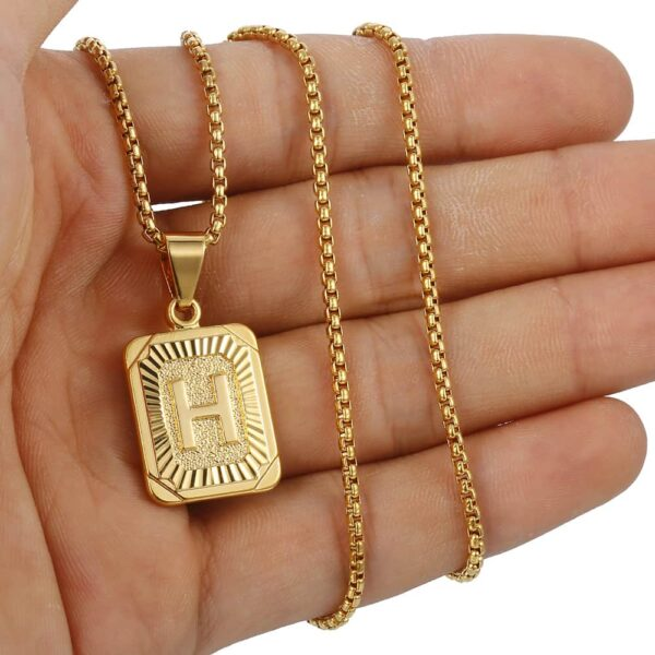 Initial Letter A-Z Pendant And Chains
