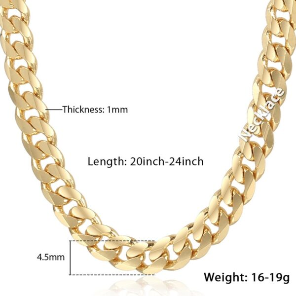 Shiny Cuban Link Chain 14k Gold Filled
