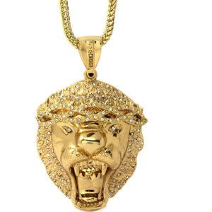 XL Lion Pendant w/36