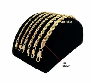 Rope Chain 14k Gold Plated