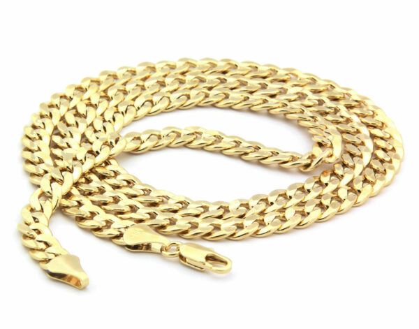 "14k Gold Plated Cz MALVERDE w/30"" Cuban"