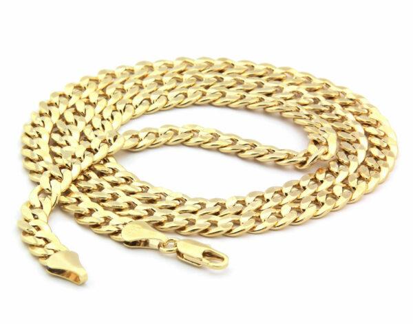 "14k Gold Plated Cz MALVERDE w/30"" Cuban"