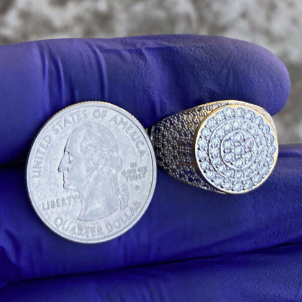 Men's 2-Tone Iced Micro Pave Ring