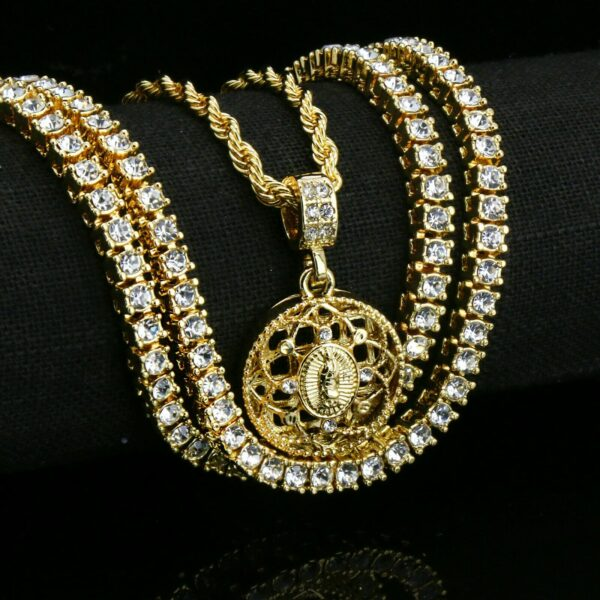 """Guadalupe Pendant w/20"""" Rope Chain"""