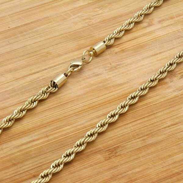 "14k Gold Plated "" Huge LAST SUPPER"" Pendant w/5mm 30"" Rope Chain"