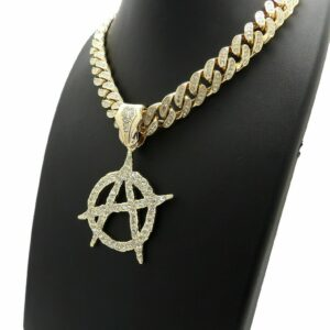 ANARCHY PENDANT w/CUBAN LINK CHAIN