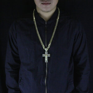 Iced Out Jesus Cross Pendant w/30