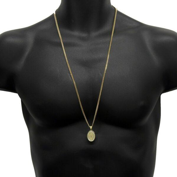 "Guadalupe Pendant w/30"" Cuban Chain"