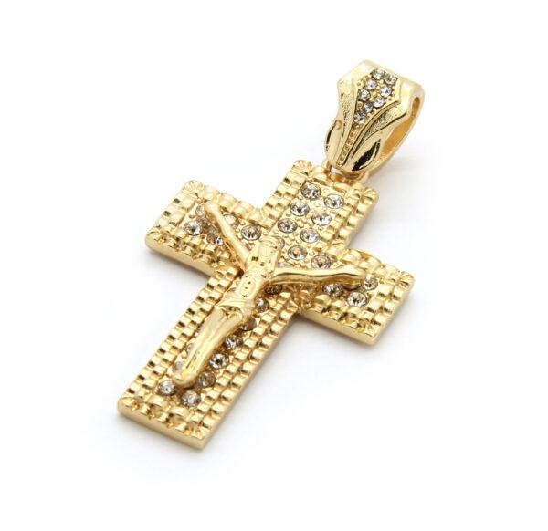 """Jesus Cross Pendant w/24"""" Cuban Link"""