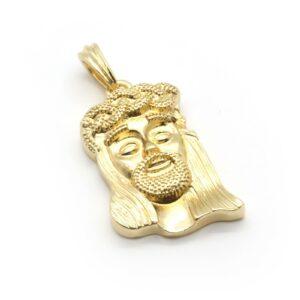 14k Gold Plated Jesus Piece w/30