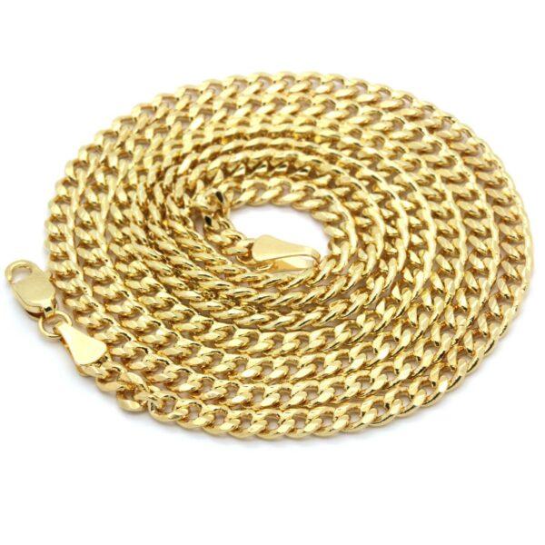 "14k Gold Plated Jesus Piece w/30"" Cuban Link"