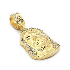 14k Gold Plated Jesus Piece w/24