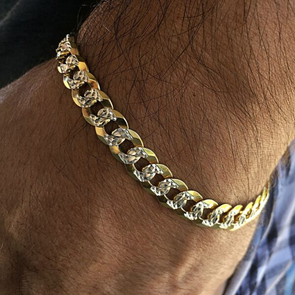 Diamond Cut Bracelet 14K Gold Plated Cuban