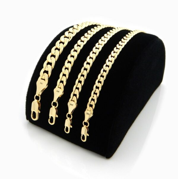 Cuban Link Diamond Cut 14k Gold Plated