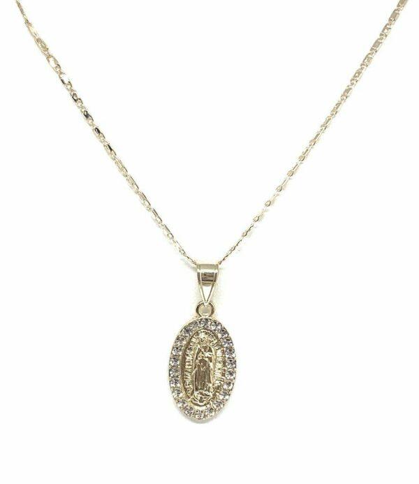 Virgen De Guadalupe Medalla 14k Gold Plated