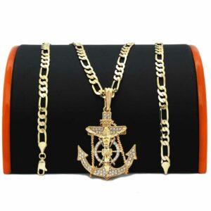 Anchor Cross Pendant w/24