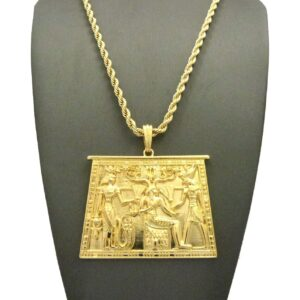 "EGYPTIAN TABLET PENDANT w/24"" ROPE CHAIN"